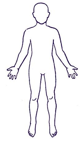 body outline with toes