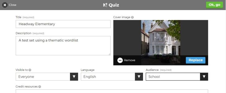 filled in kahoot cover screen