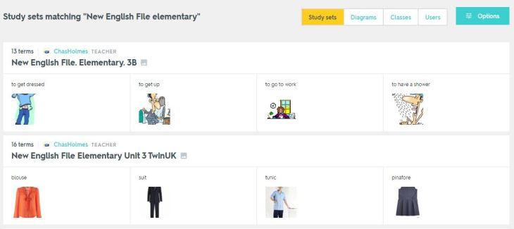 A simple Quizlet set | A guide to EdTech for EFL/ESL
