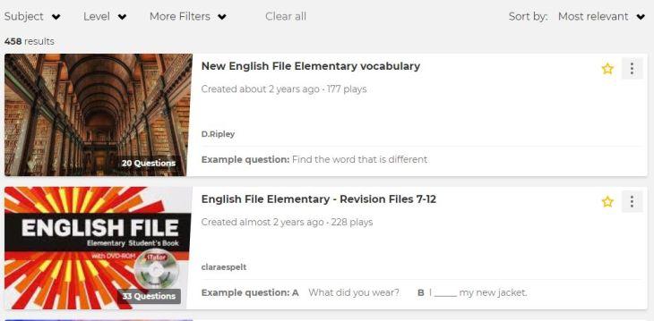 search results NEF elem